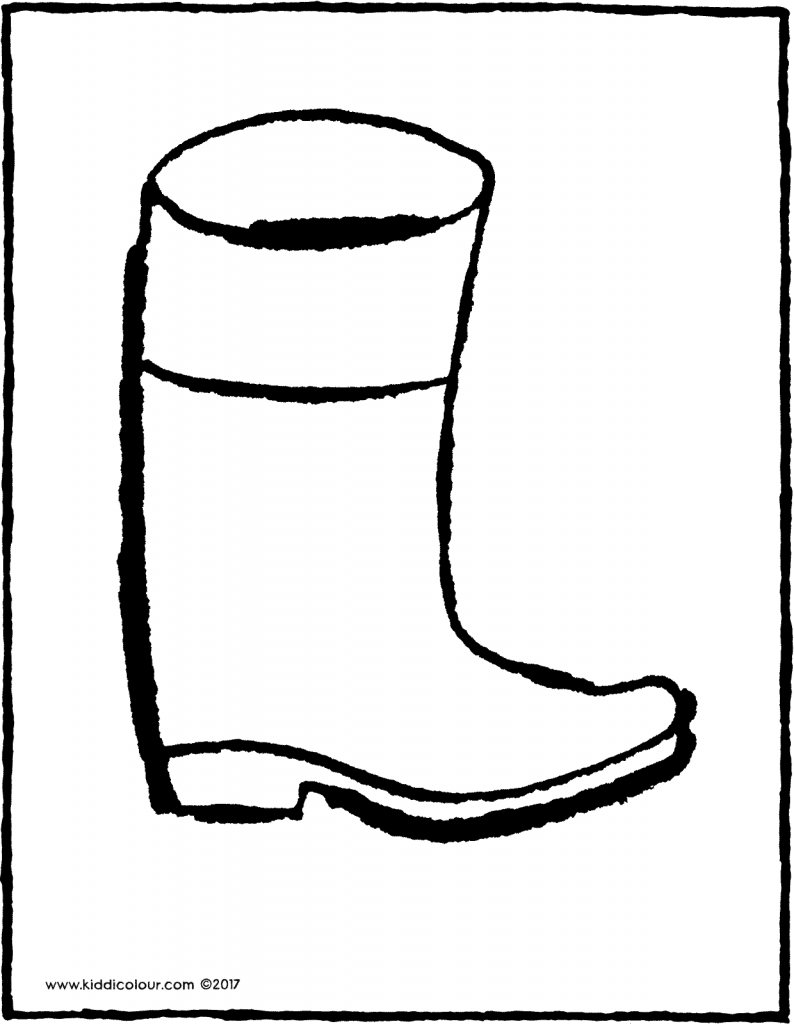 rubber boot colouring page drawing picture 01V