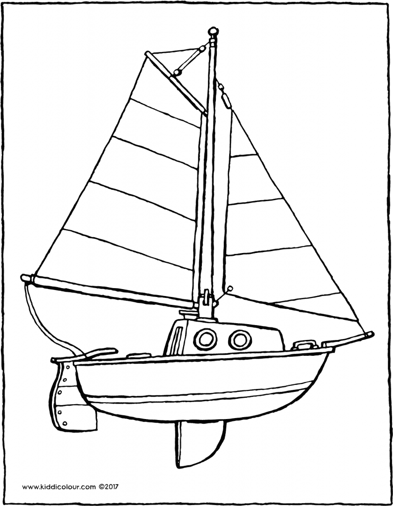 sailboat colouring page drawing picture 01V