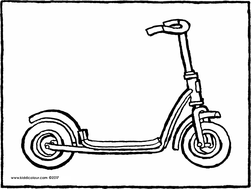 scooter colouring page drawing picture 01k