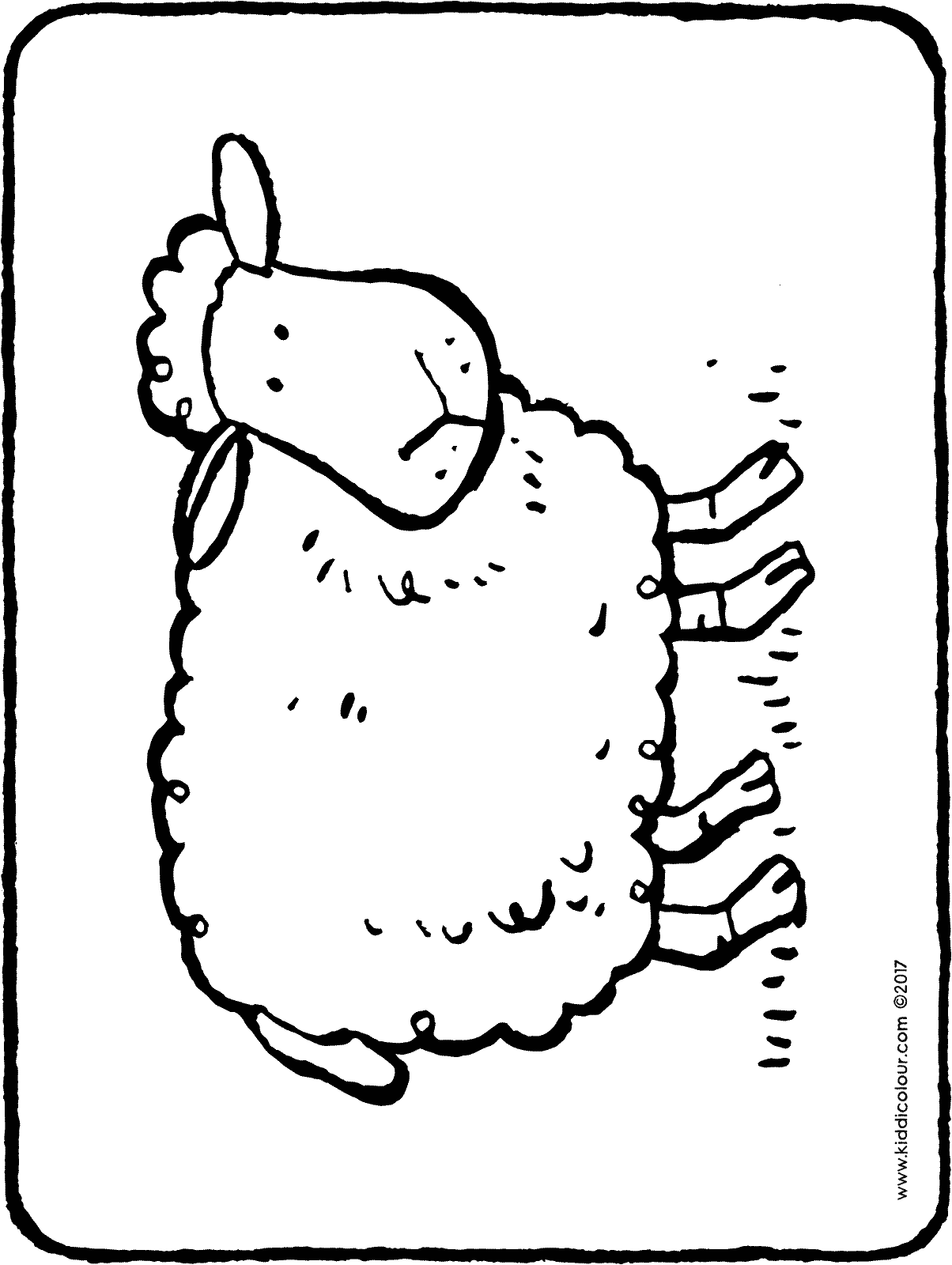 sheep colouring page drawing picture 01H