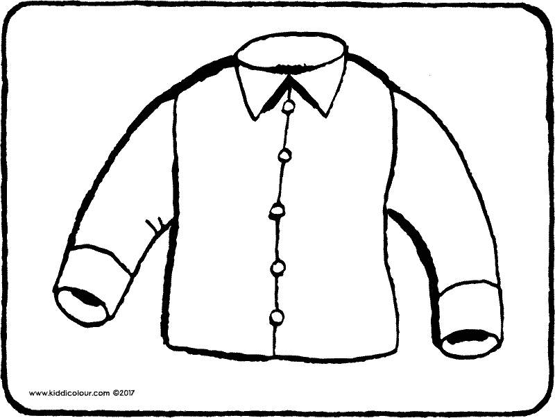 shirt colouring page drawing picture 01k