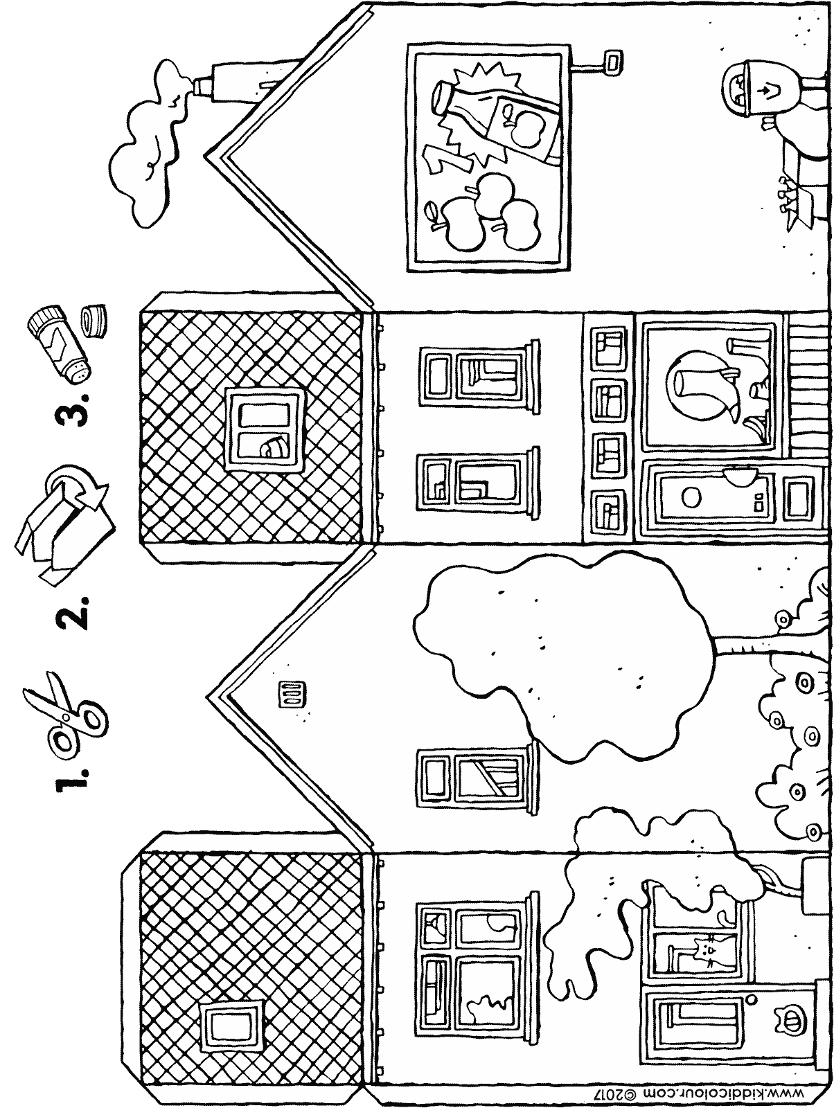shoe shop craft colouring page drawing picture 01H