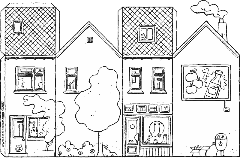 shoe shop craft colouring page drawing picture 01k