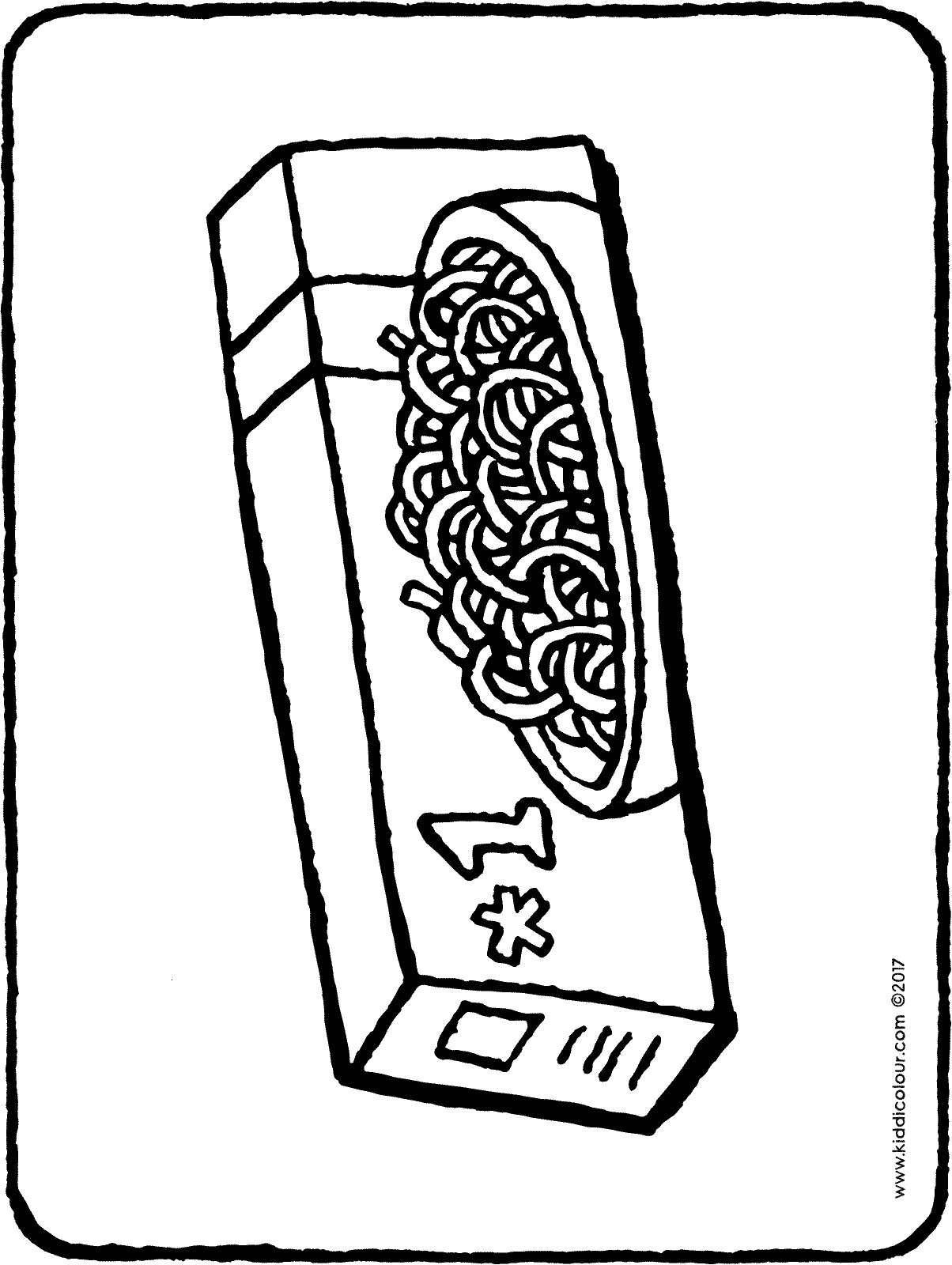 spaghetti in a pocket colouring page drawing picture 01H
