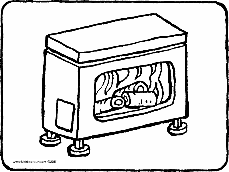 stove colouring page drawing picture 01k