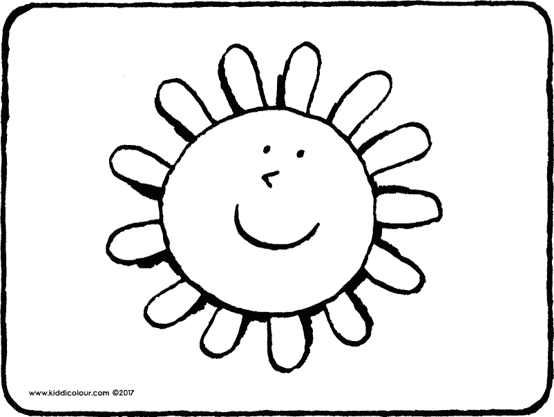 sun colouring page drawing picture 01k
