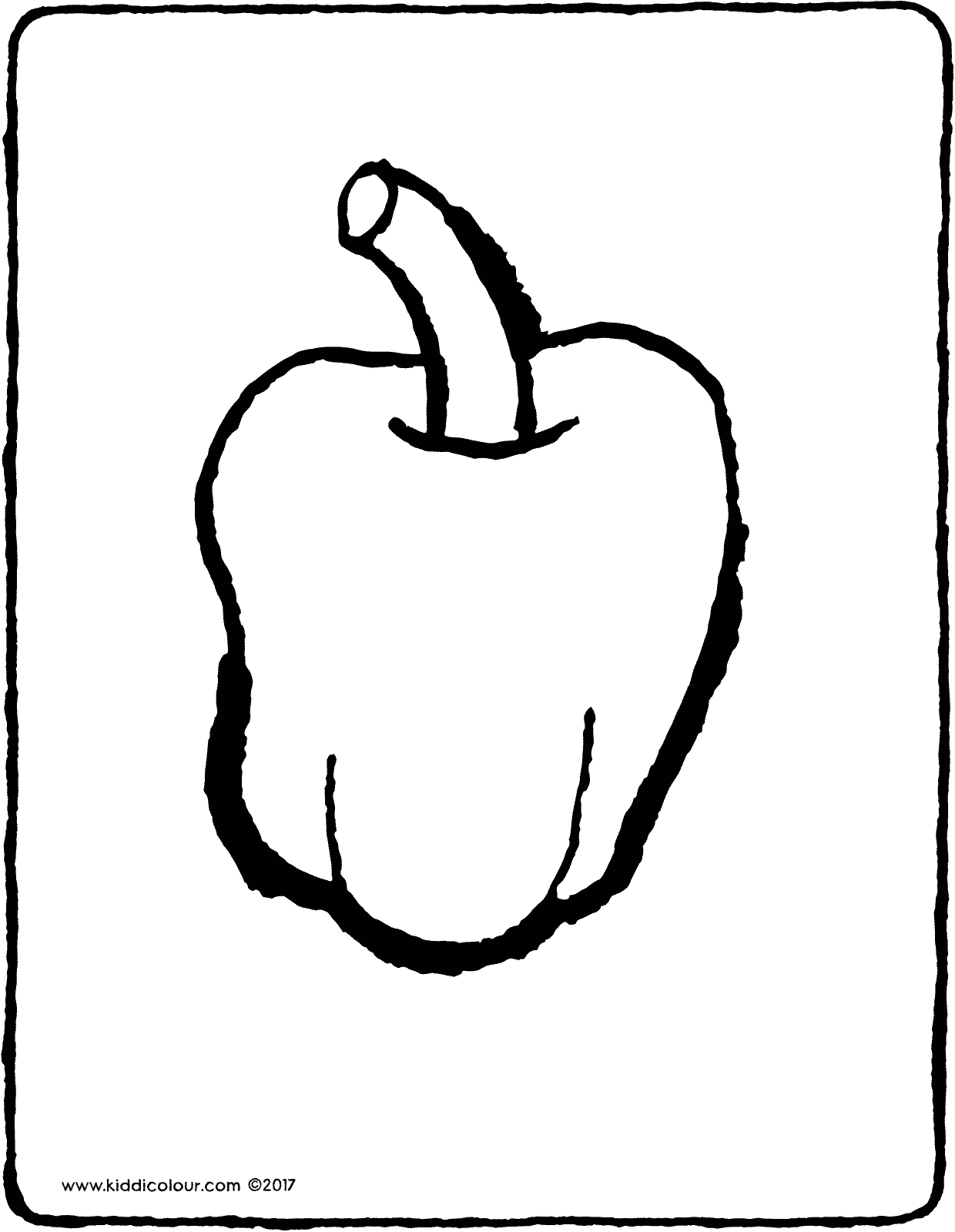 sweet pepper colouring page drawing picture 01V