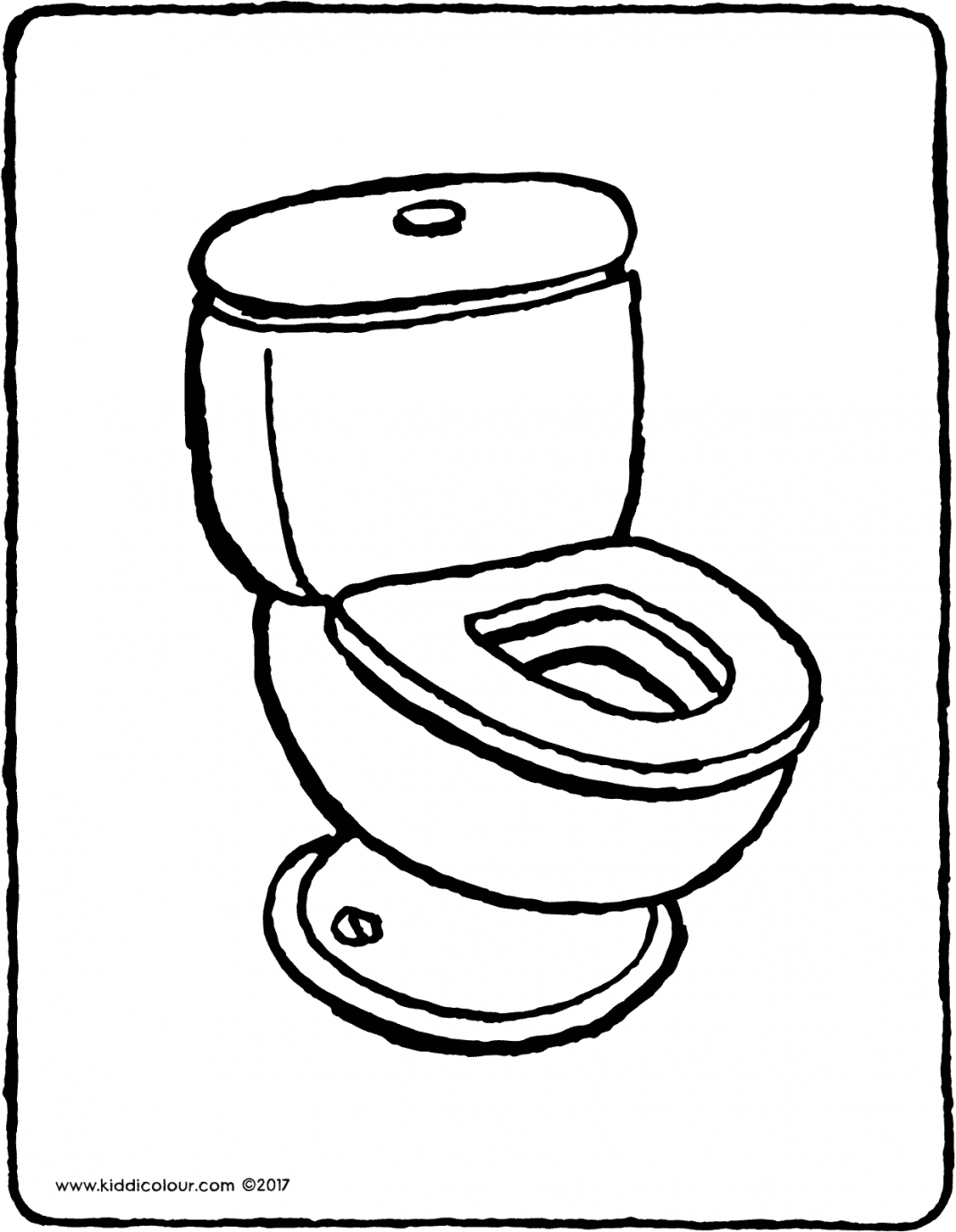 toilet colouring page drawing picture 01V