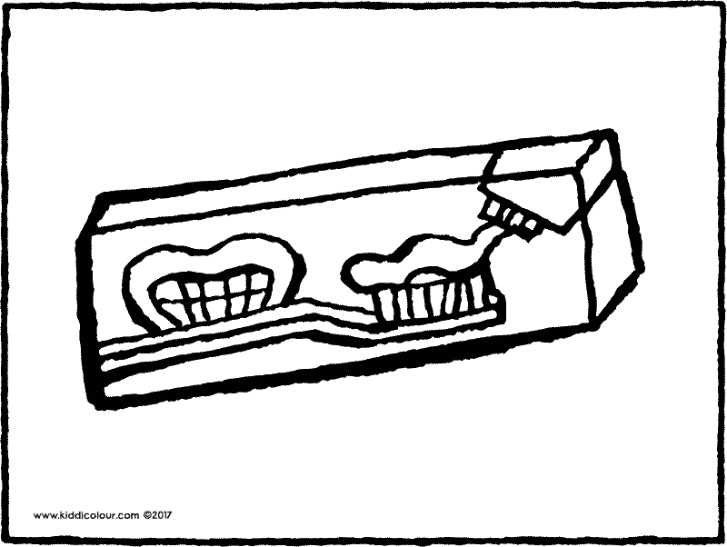 toothpaste colouring page drawing picture 01k