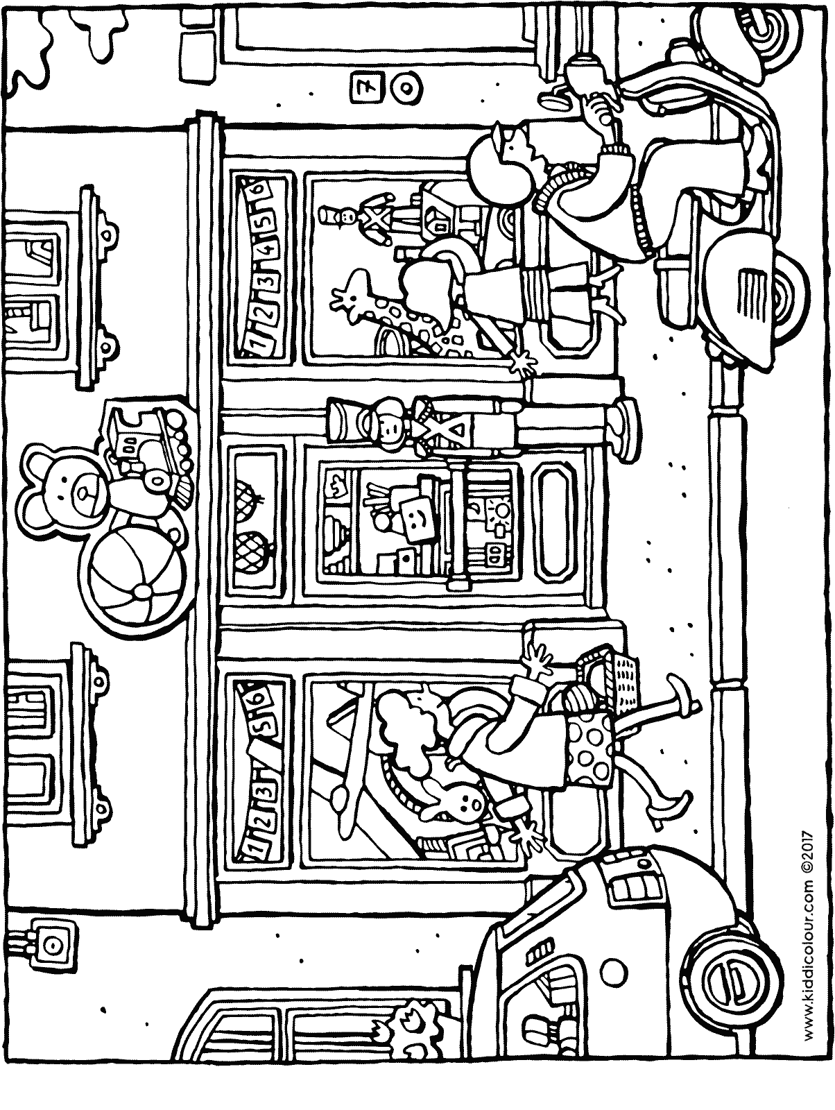 toy shop colouring page drawing picture 01H