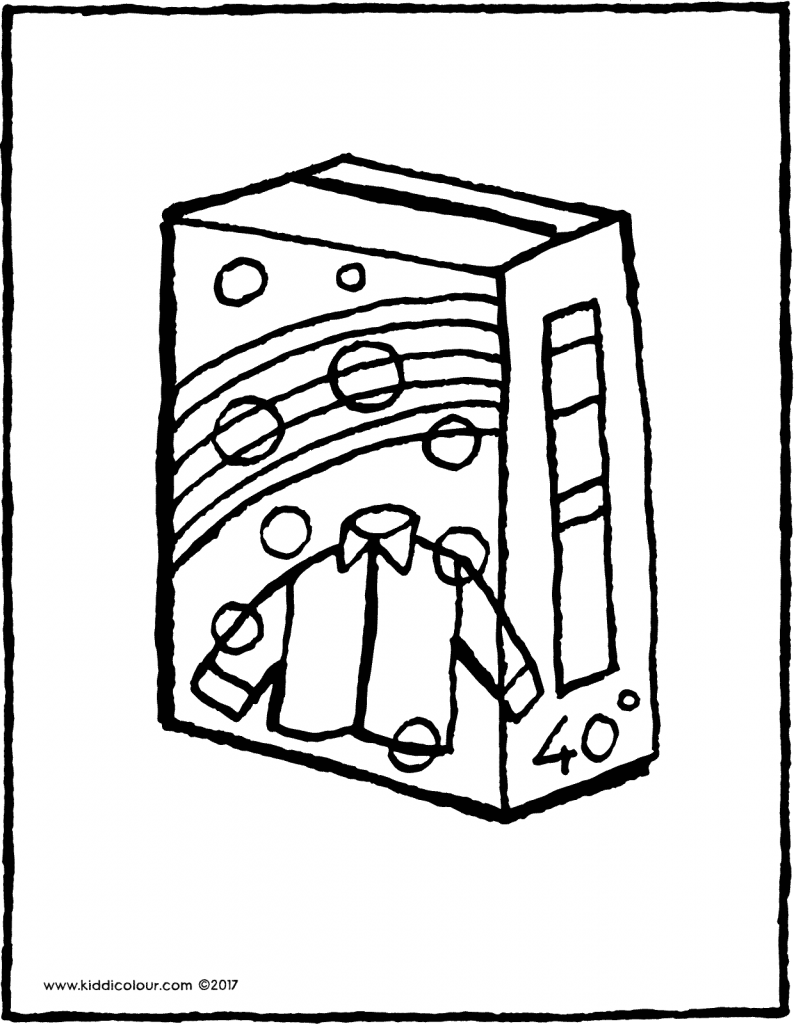 washing powder colouring page drawing picture 01V