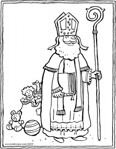 Saint Nicholas with bag of toys