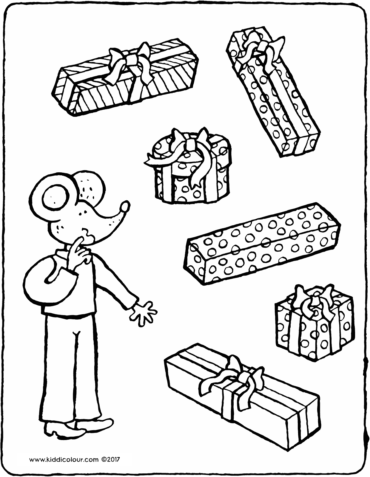 a present for Thomas colouring page drawing picture 01V