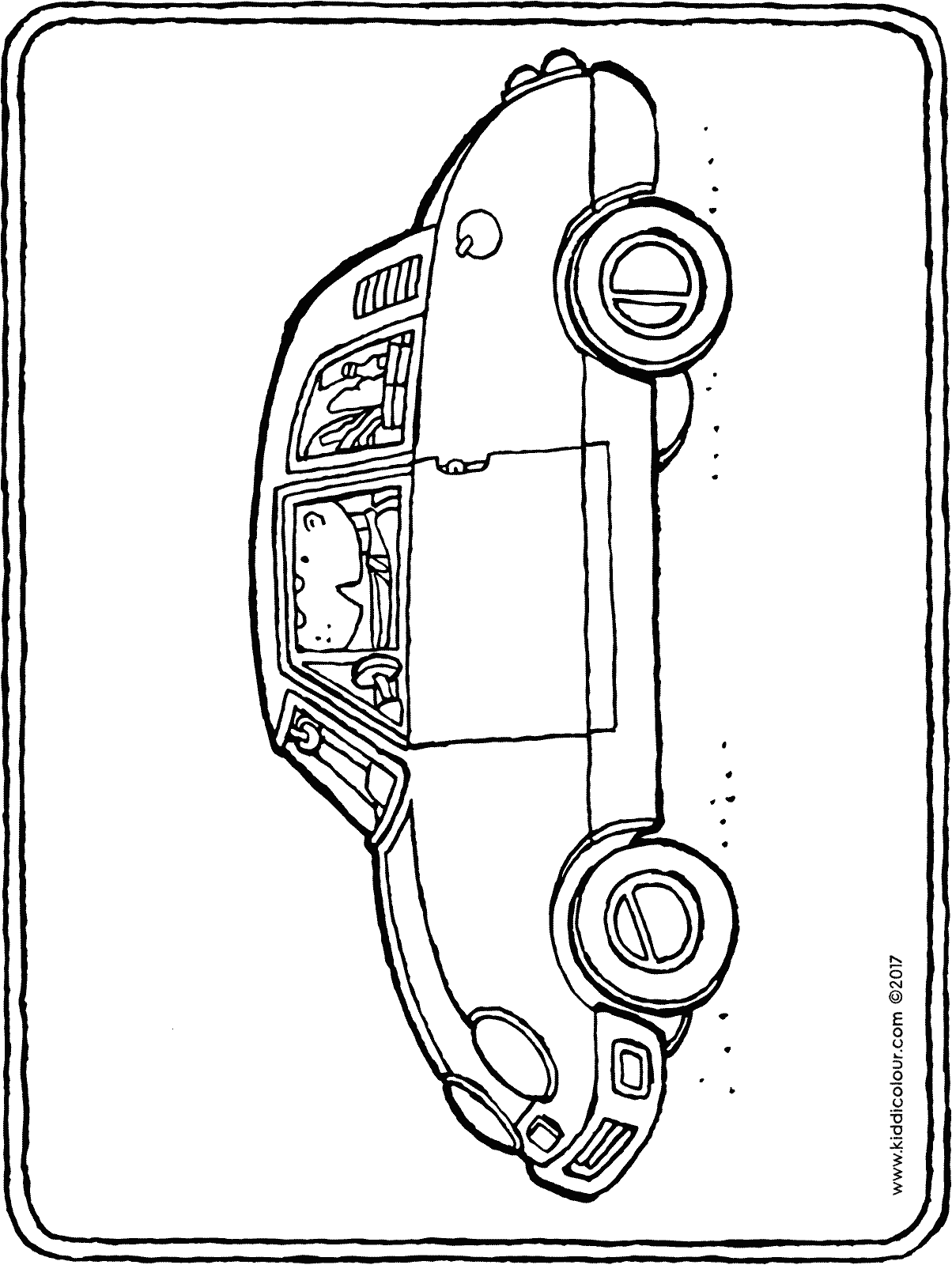 car with groceries colouring page drawing picture 01H