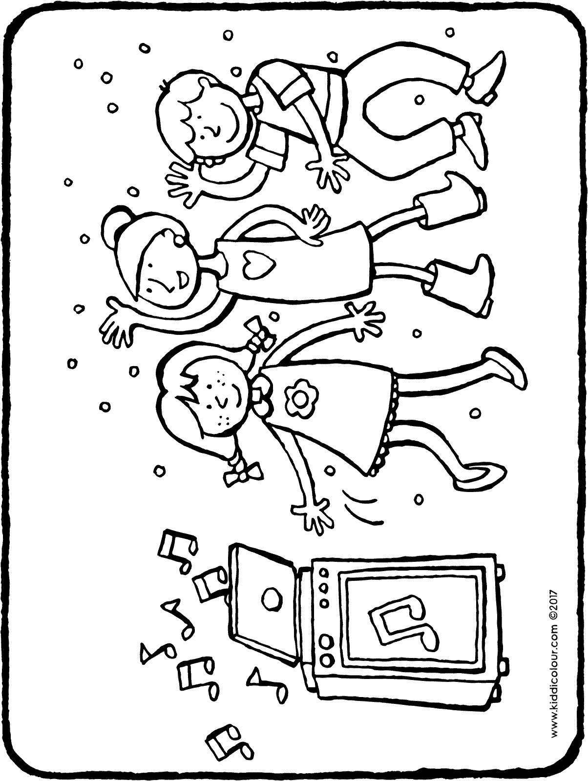 disco coloring pages | children's disco - kiddicolour