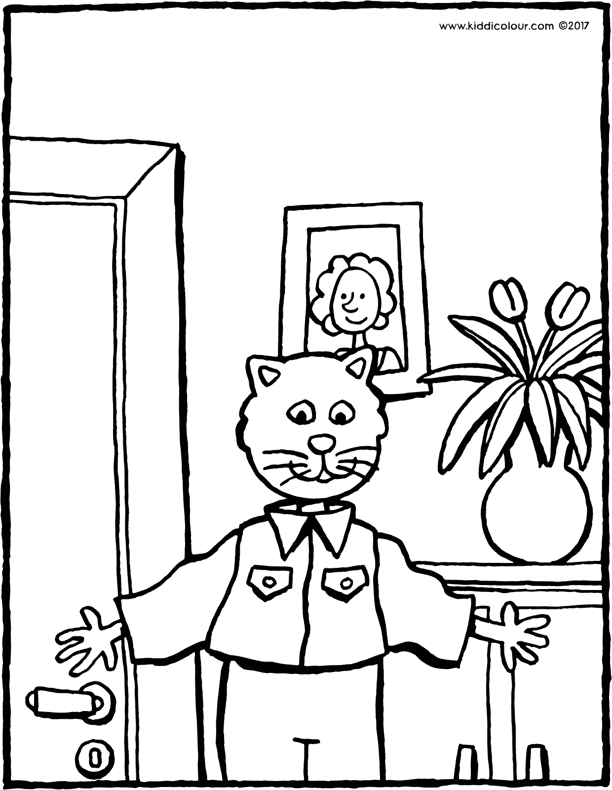father's day celebration colouring page drawing picture 01V