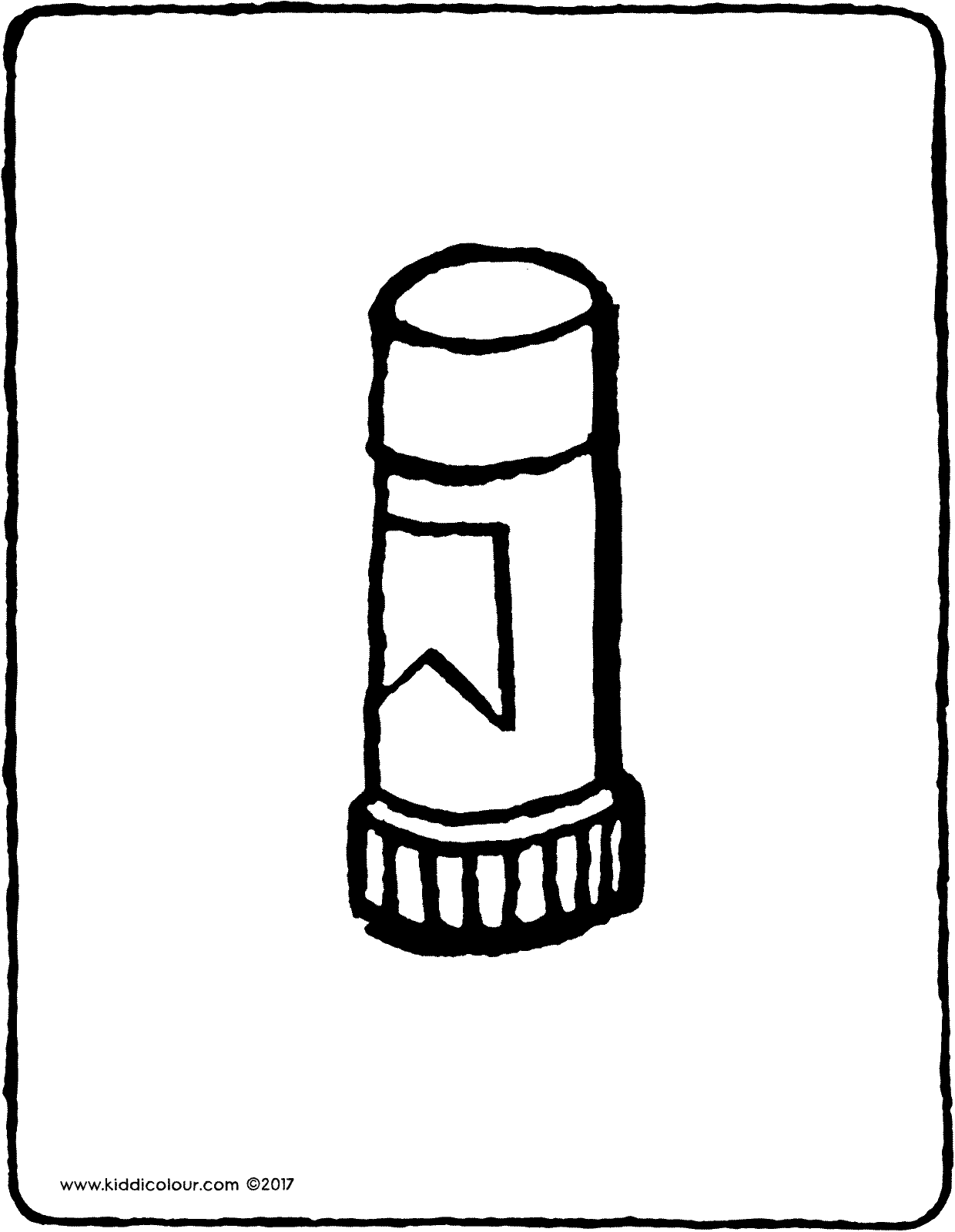 glue stick colouring page drawing picture 01V