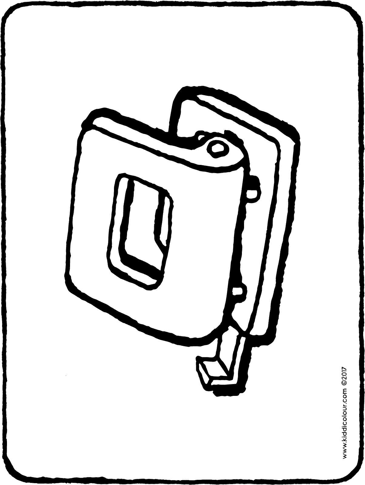 hole punch colouring page drawing picture 01H