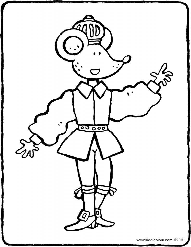prince Thomas colouring page drawing picture 01V