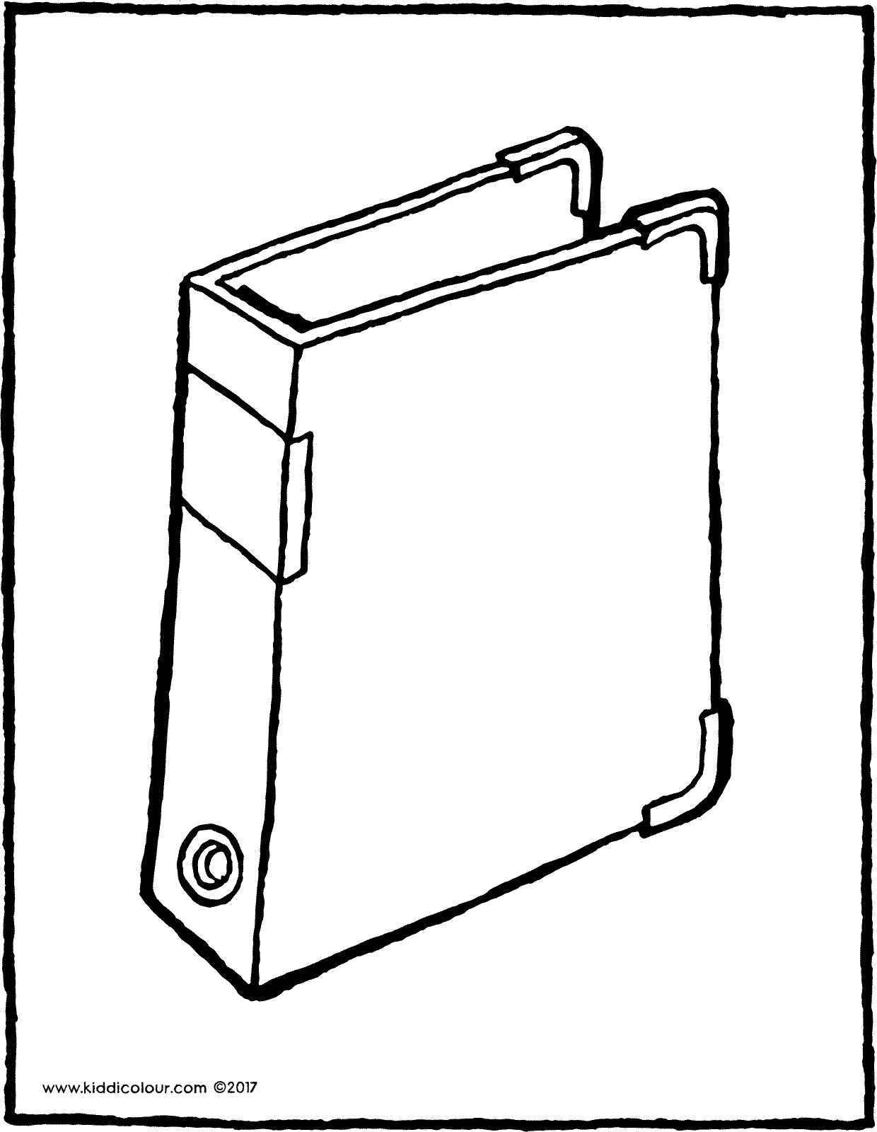 ring binder colouring page drawing picture 01V