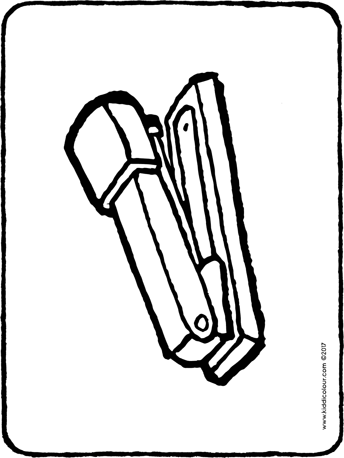 stapler colouring page drawing picture 01H