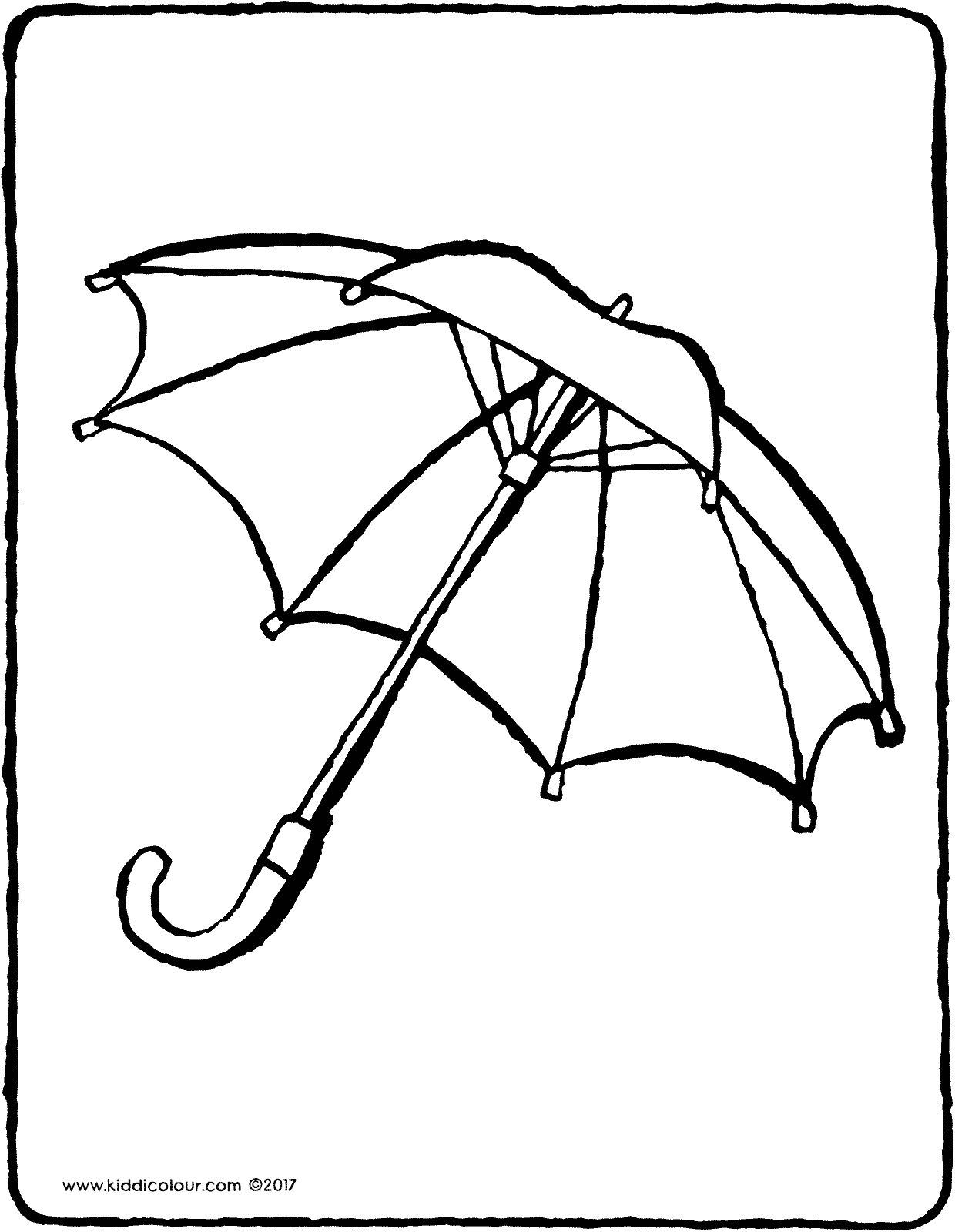 umbrella colouring page drawing picture 01V