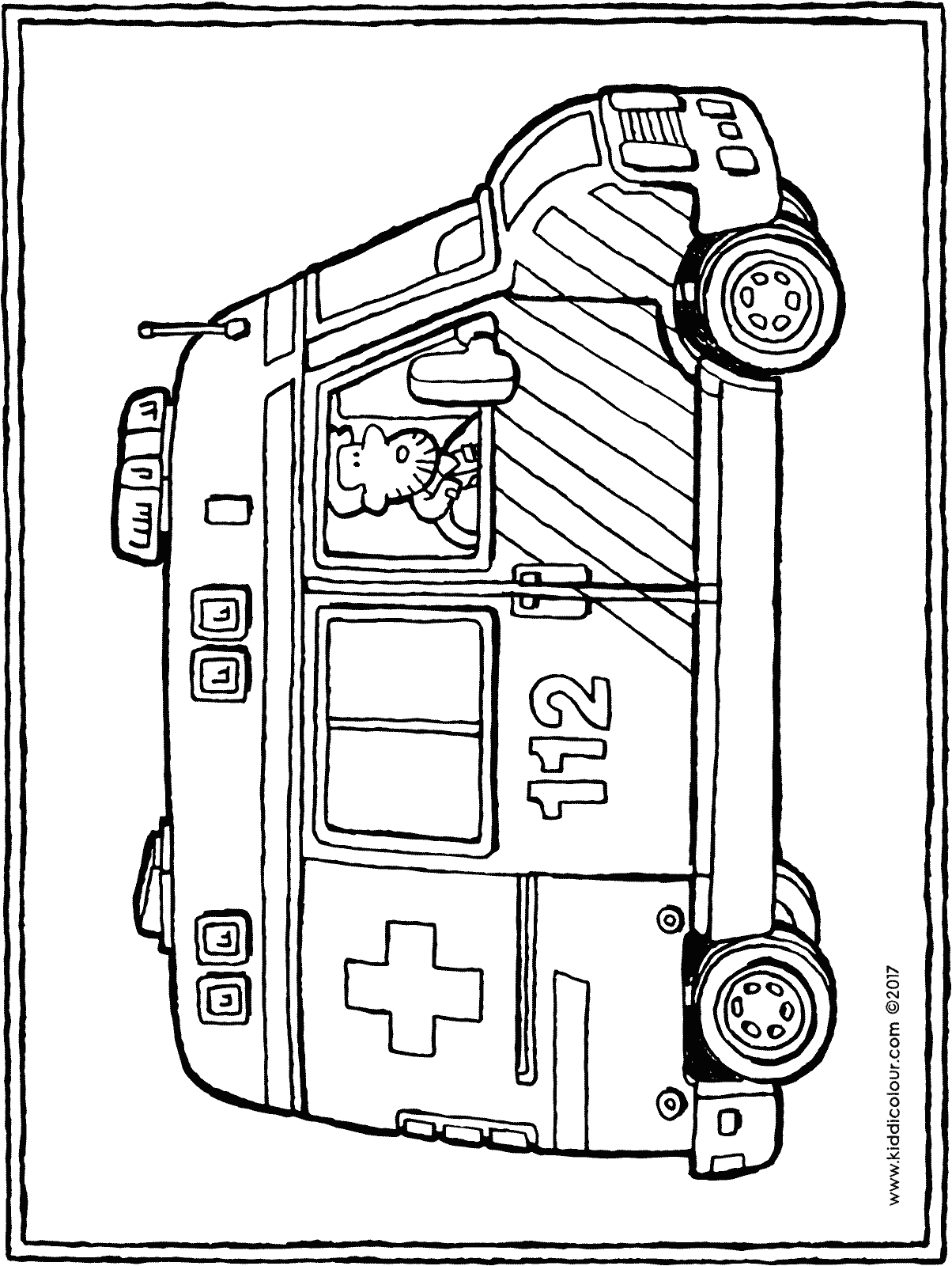 Ambulance kiddicoloriage - Dessin ambulance ...