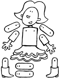 Emma as a jumping jack doll
