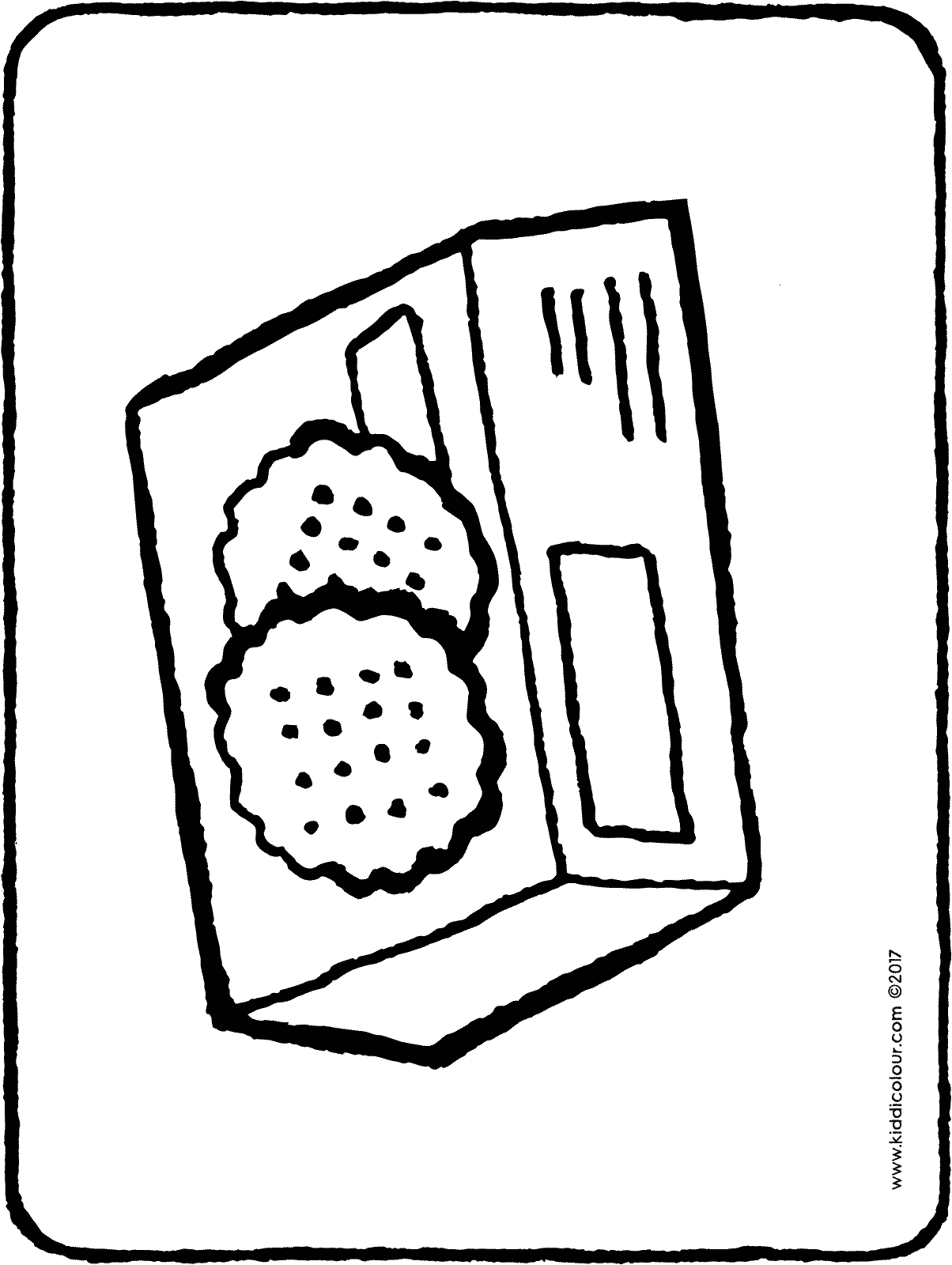 a packet of yummy cookies colouring page 01H