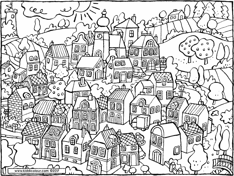 Outside Colouring Pages