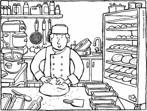 Bakery Coloring Pages Photos Page Ncsudan