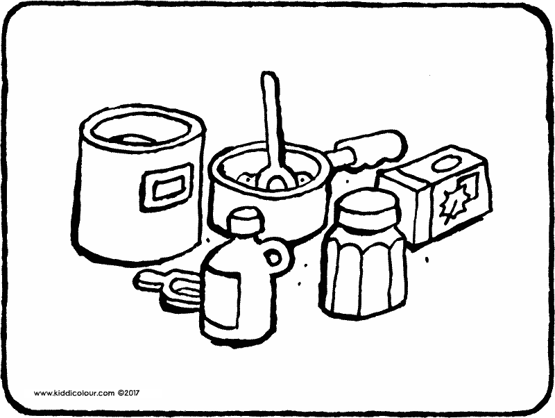baking cookies coloring page 01k