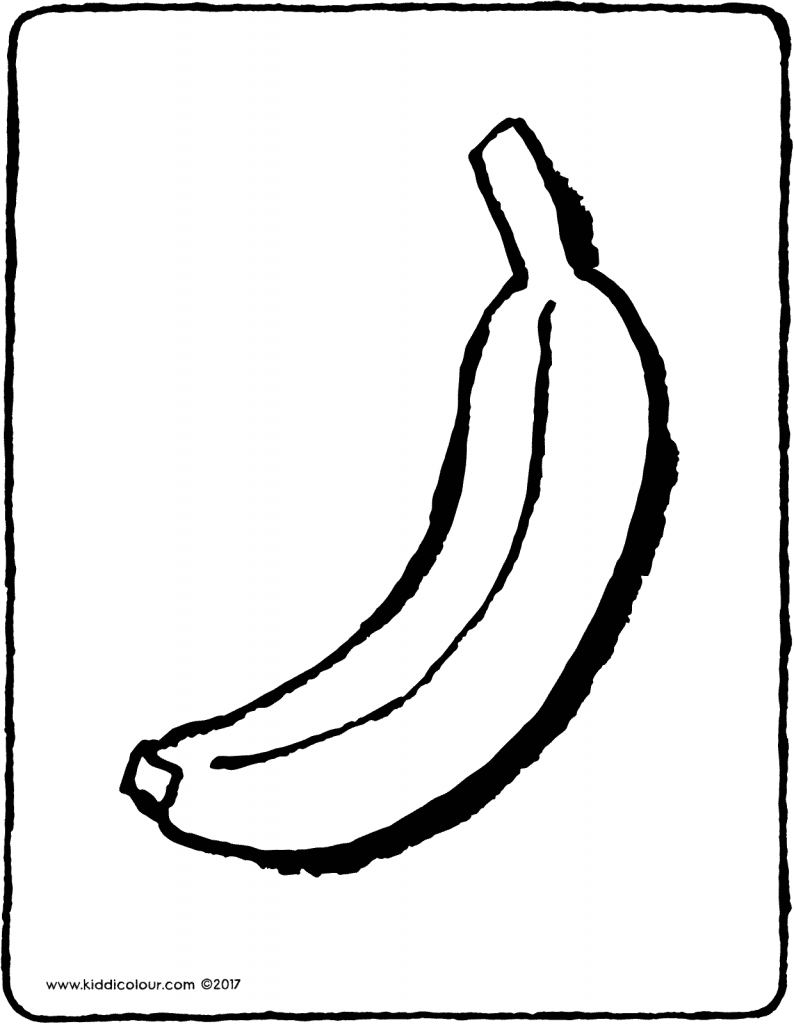 banana colouring page 01V