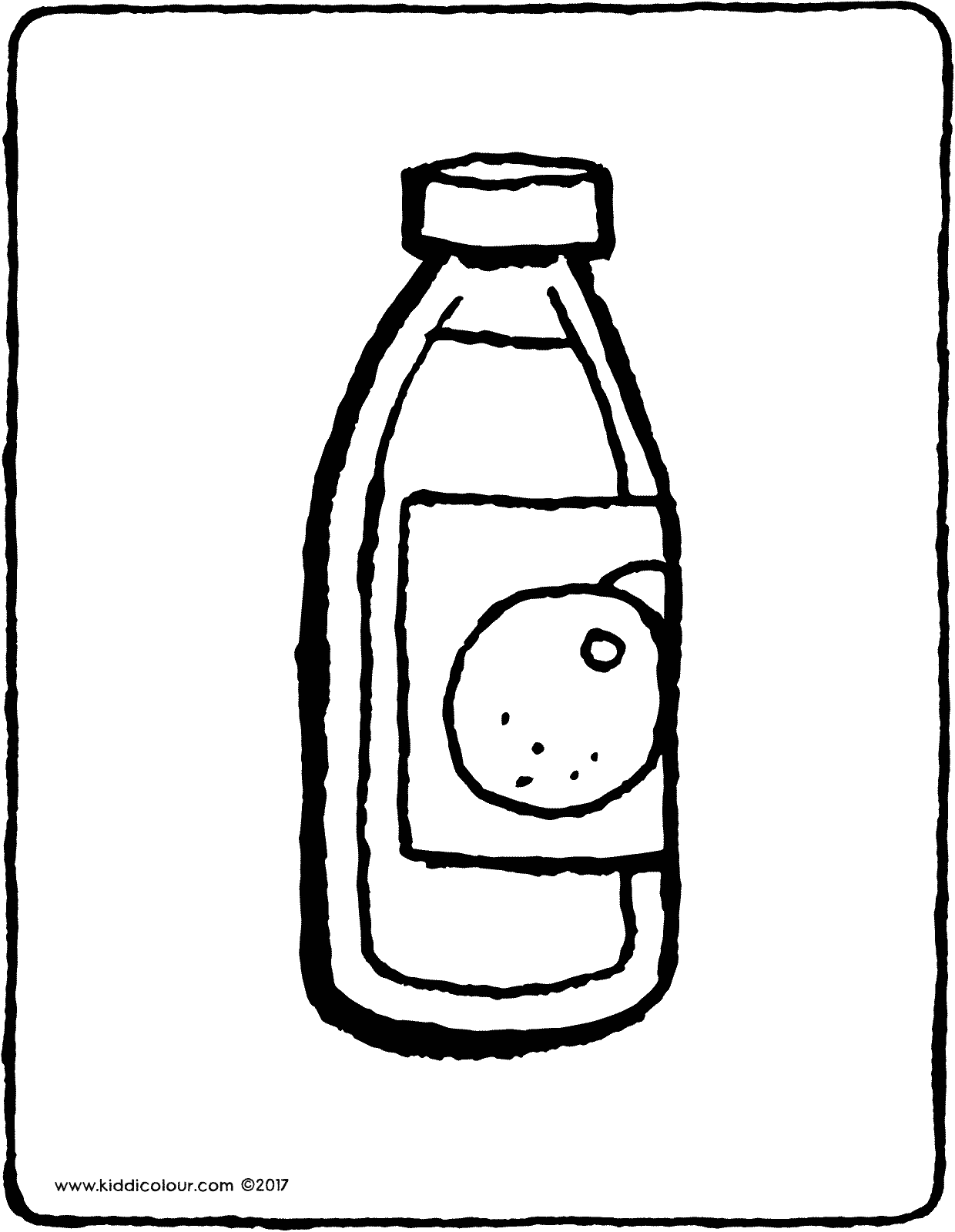 Colouring in juice - Bottle Of Orange Juice