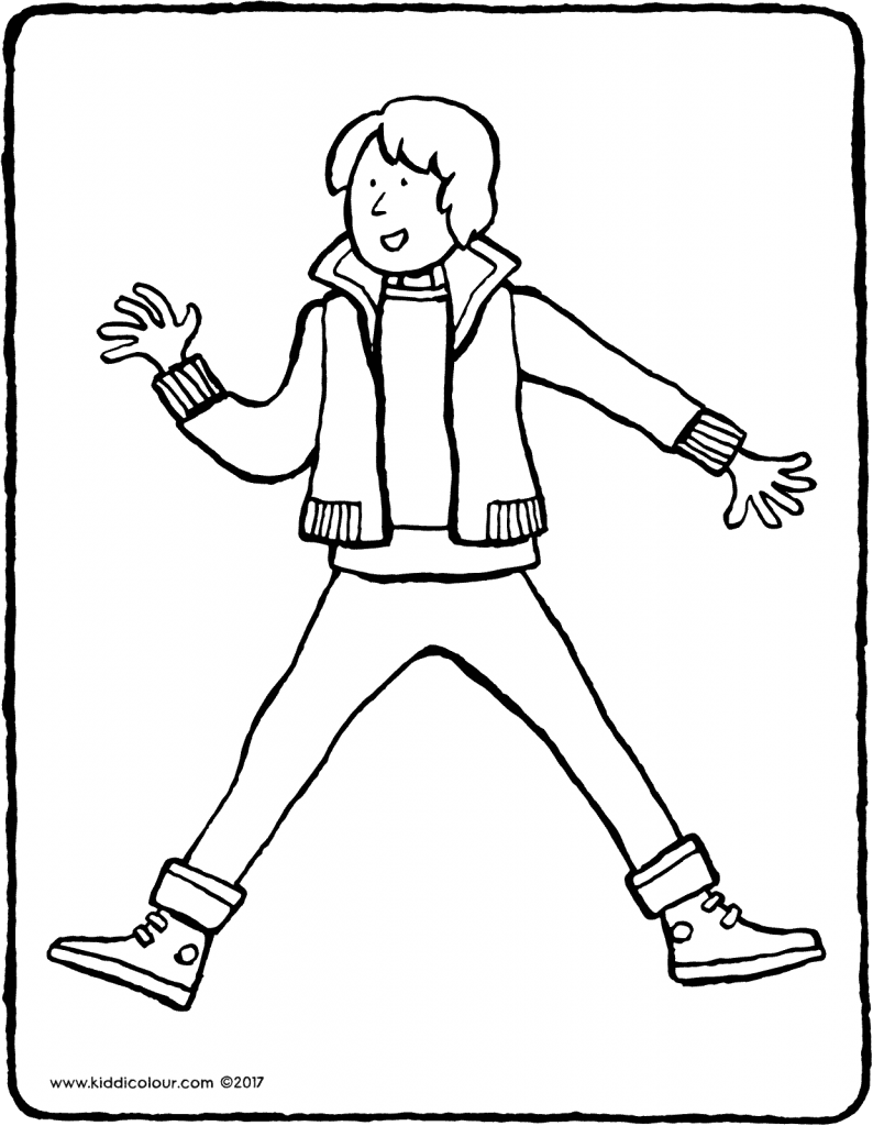 boy in jeans colouring page 01V