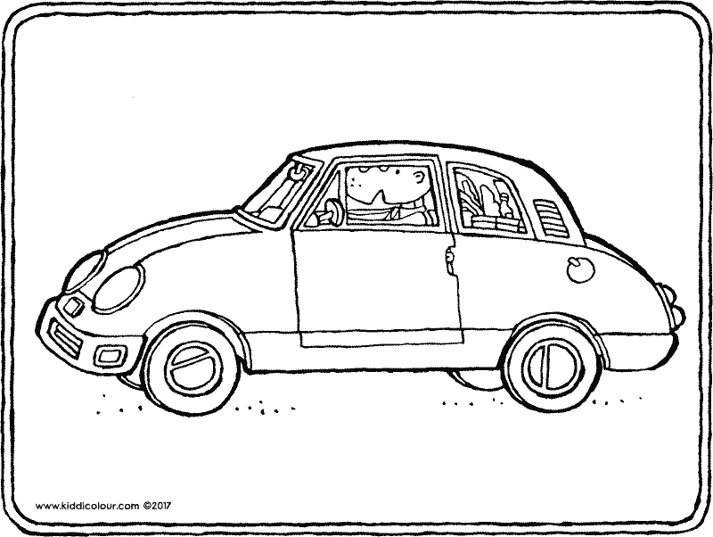 car with groceries coloring page 01k