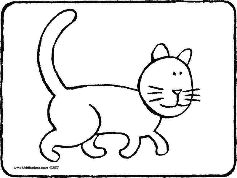 cat colouring page 04k