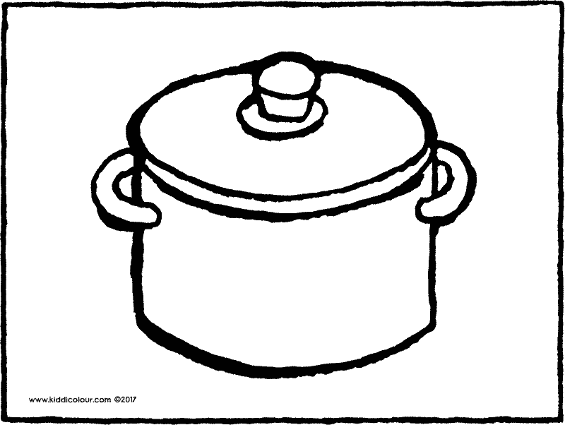 pots coloring pages | kitchen colouring pages - Page 2 of 3 - Kiddi kleurprentjes