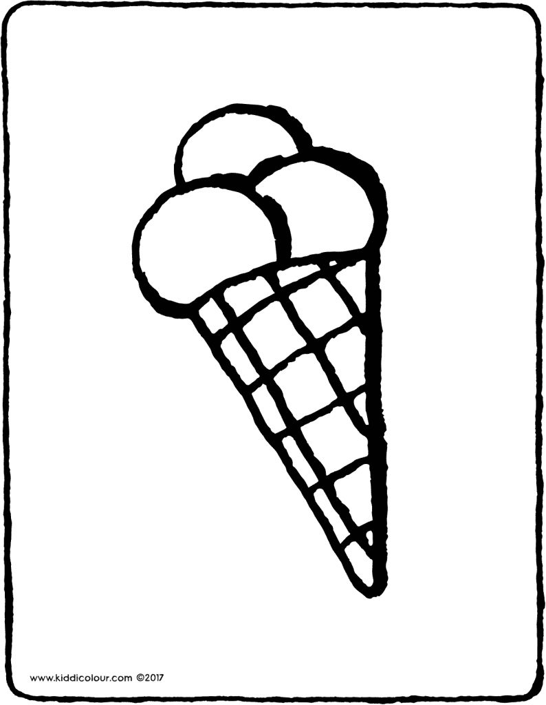 ice-cream cone colouring page 01V