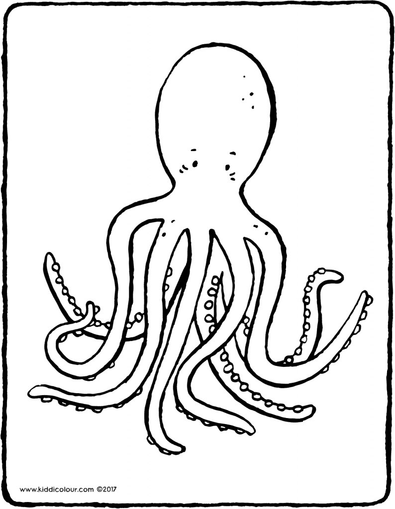 octopus colouring page 01V