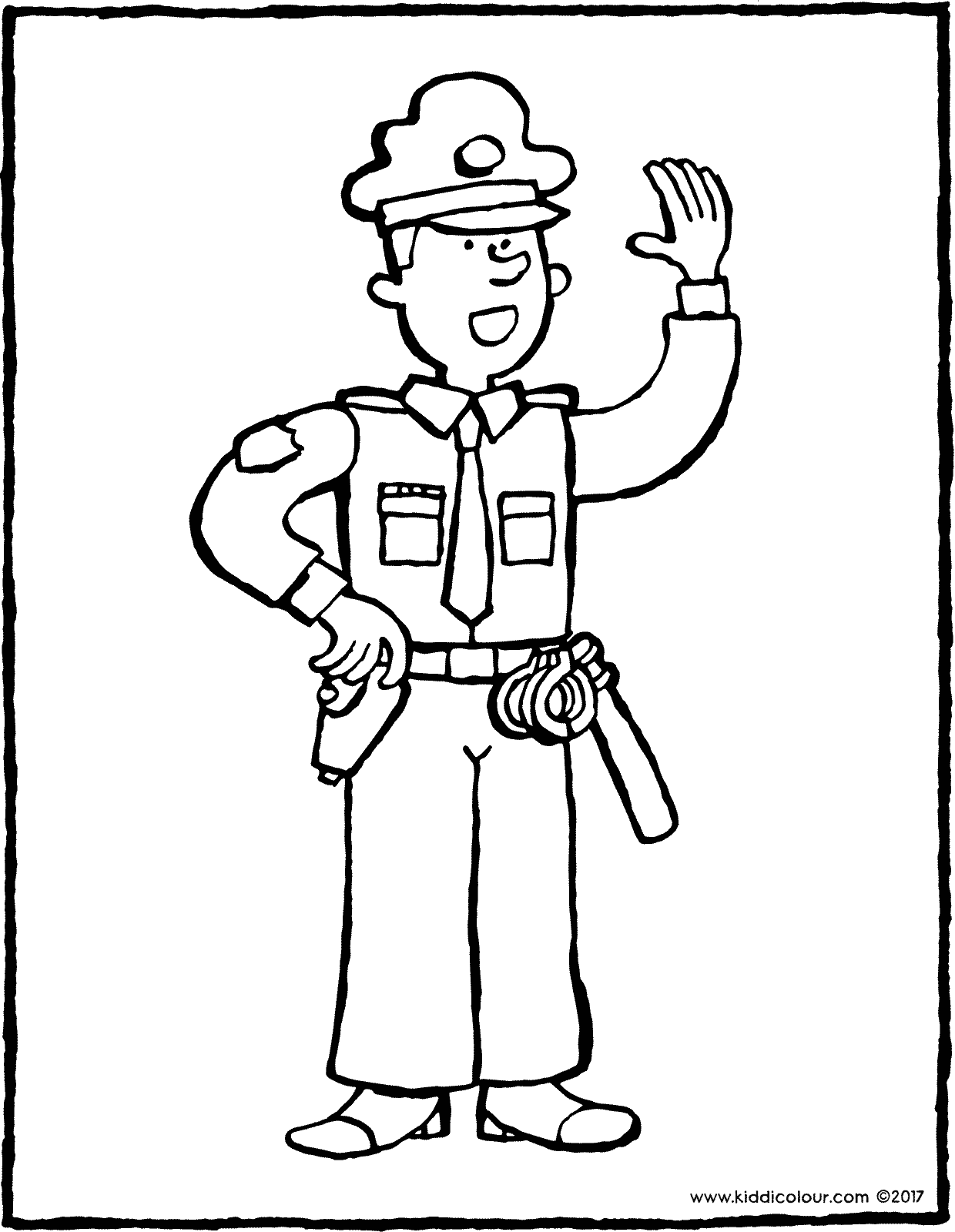 police officer colouring page 01V