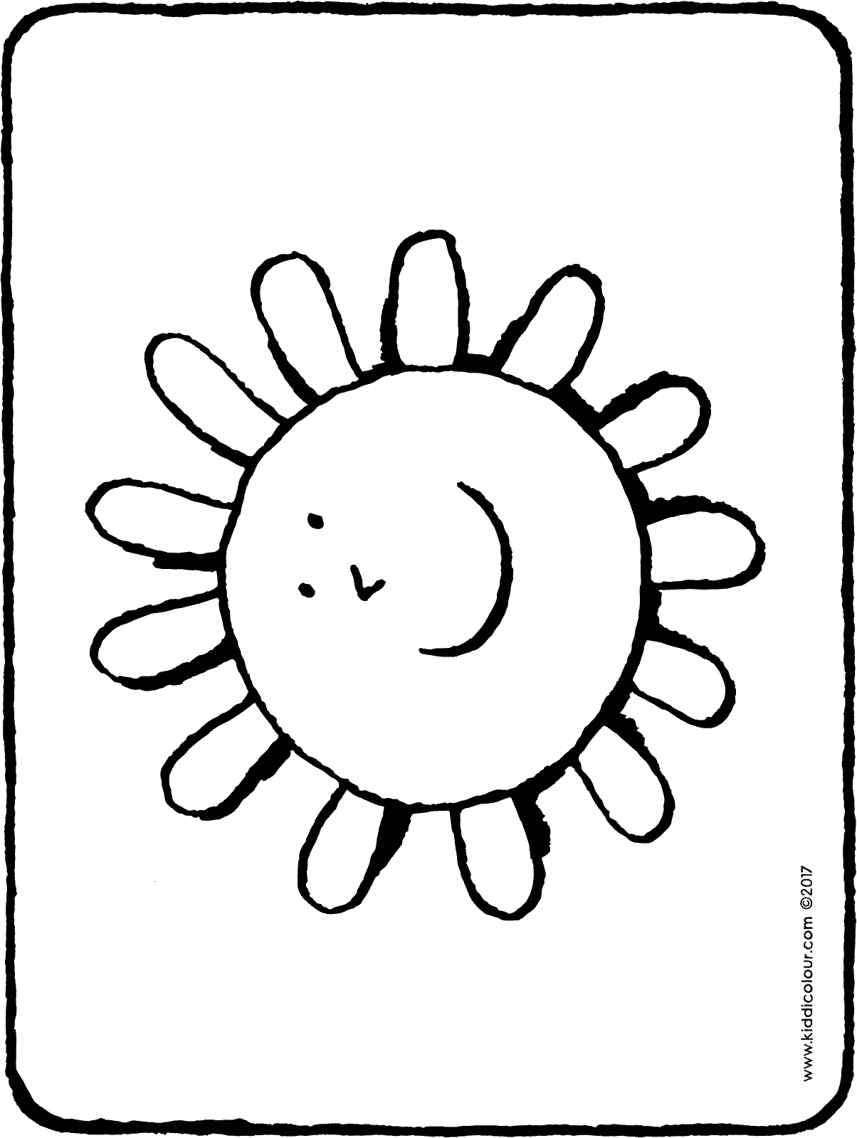 sun colouring page 01H