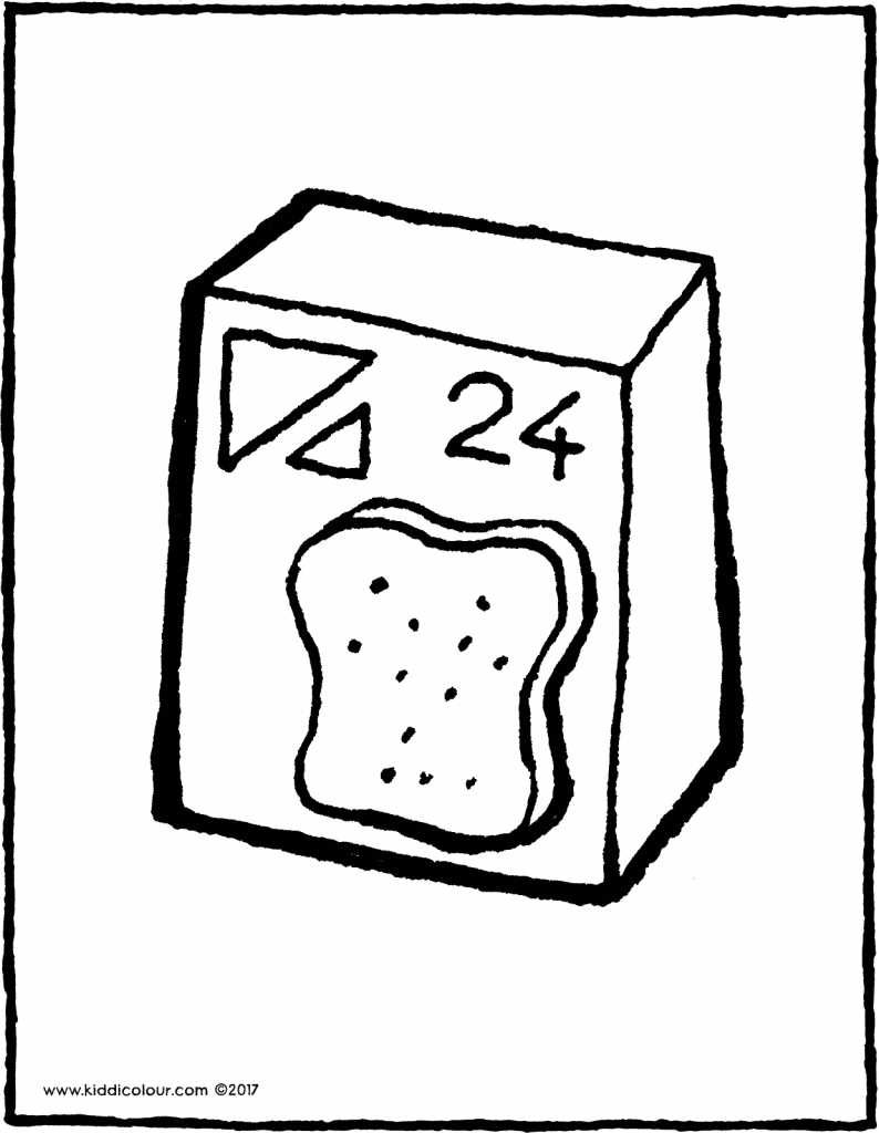 toast colouring page 01V
