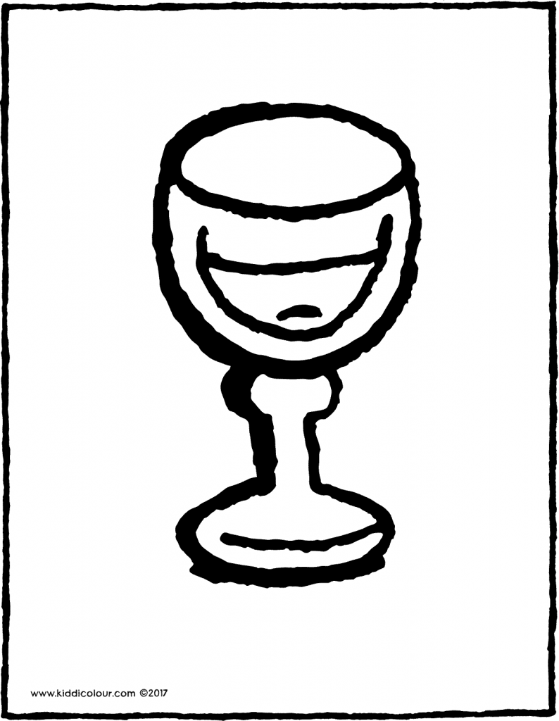 wine glass colouring page 01V