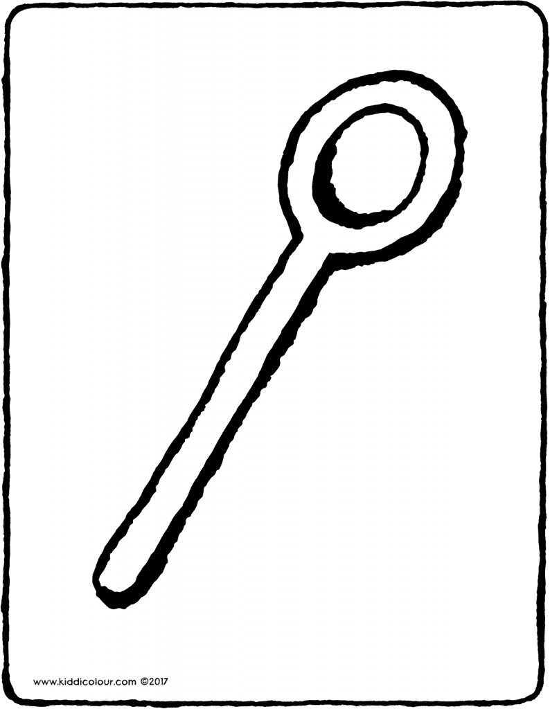 wooden spoon colouring page 01V