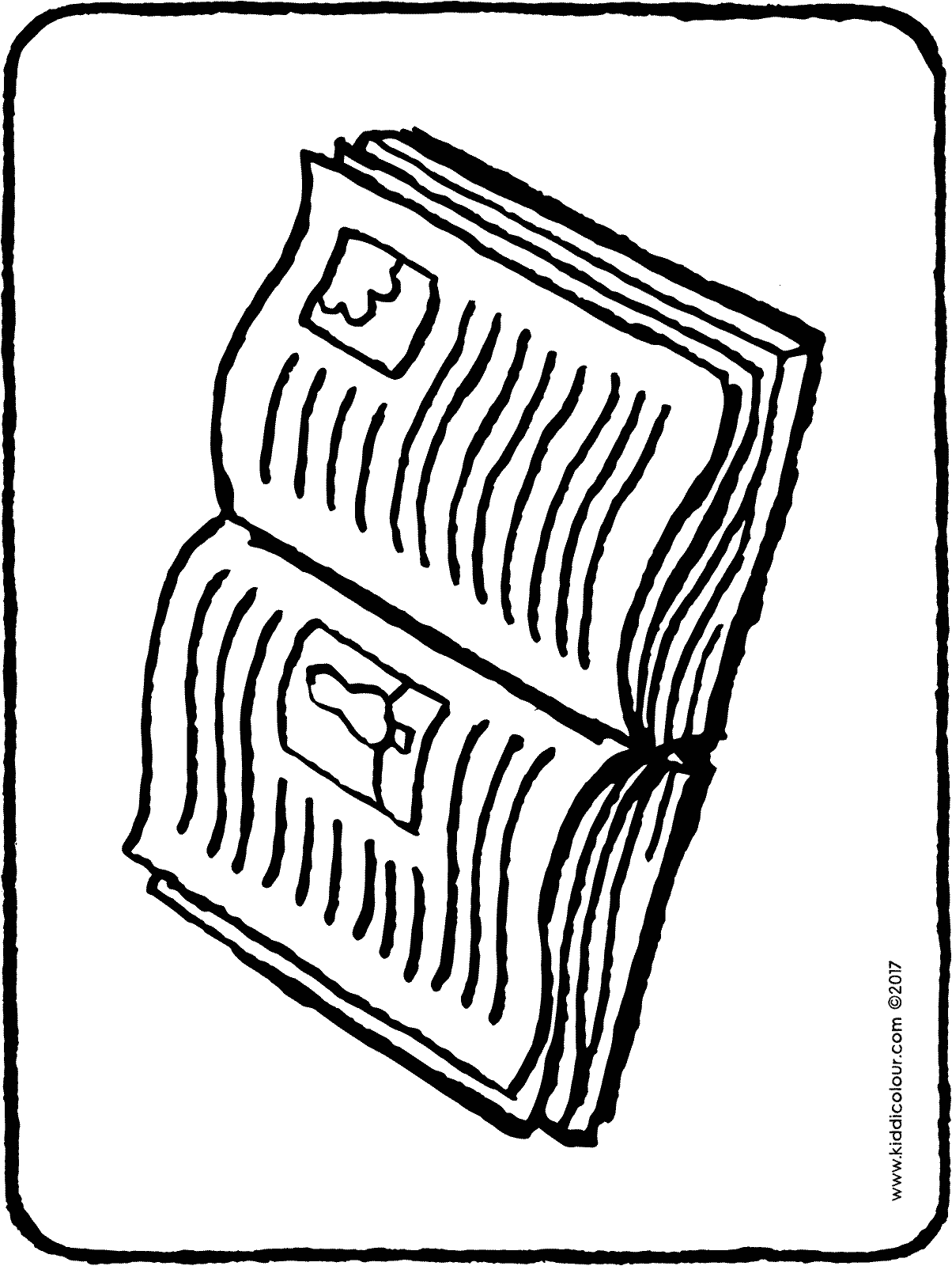 book colouring page 01H