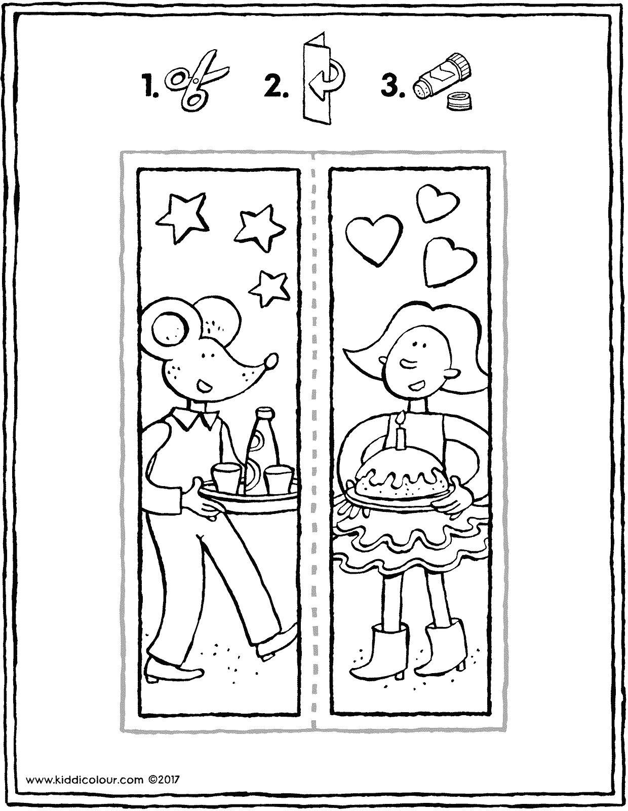 Emma and Thomas bookmark crafts colouring page page drawing picture 01V