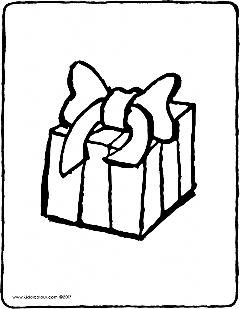 a present colouring page page drawing picture 01V