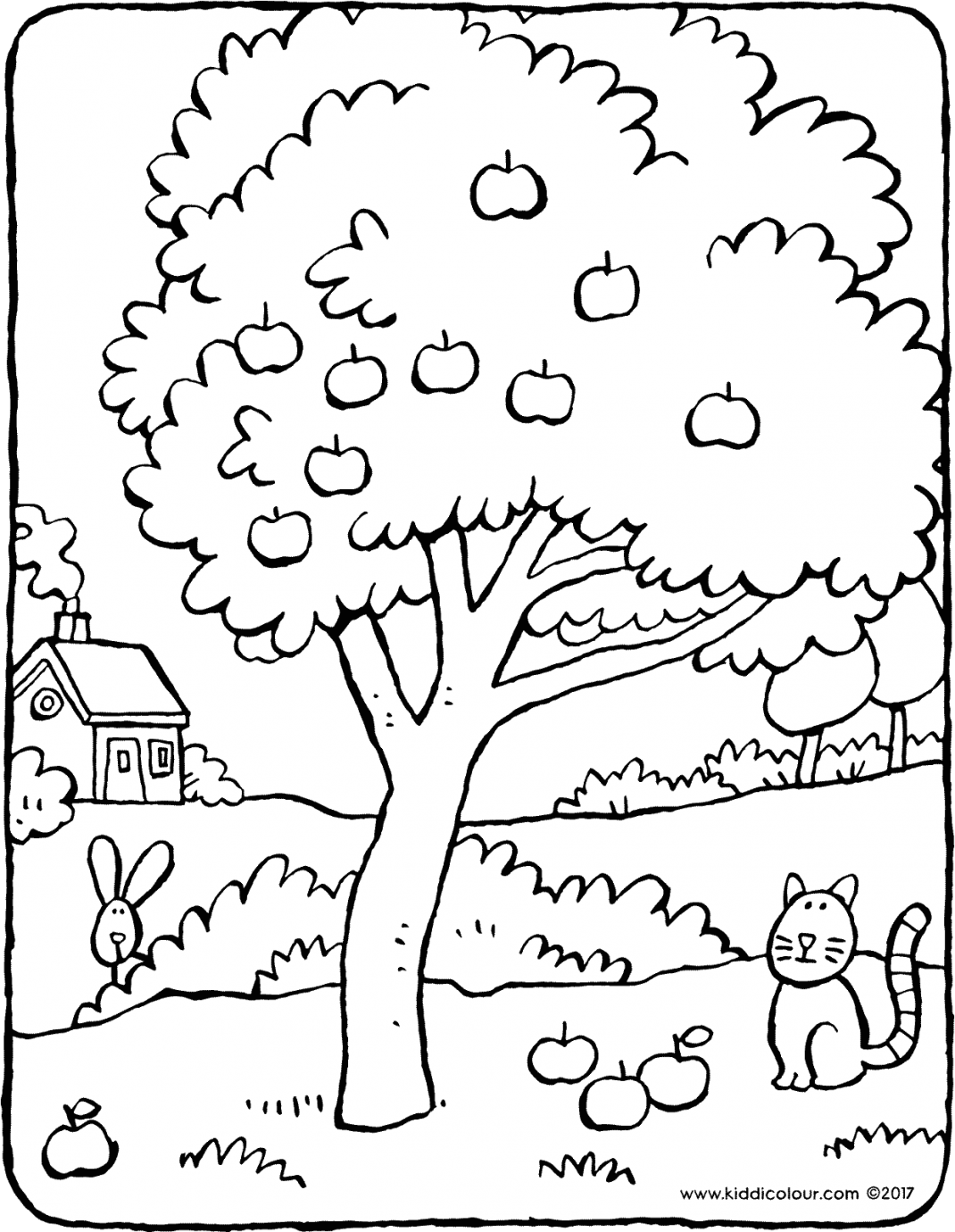 apple tree colouring page page drawing picture 01V