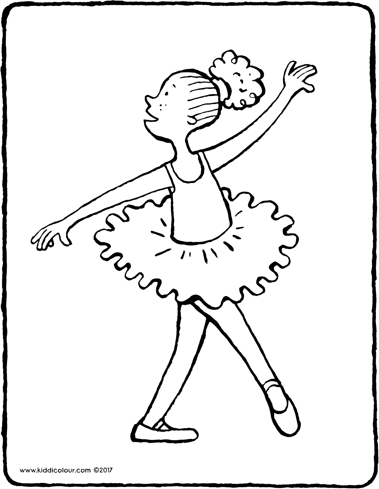 ballet dancing colouring page page drawing picture 01V